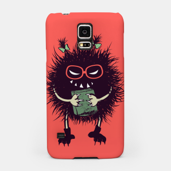 Evil geek girl character with book Samsung Case thumbnail image