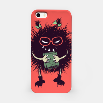 Miniature de image de Evil geek girl character with book iPhone Case, Live Heroes