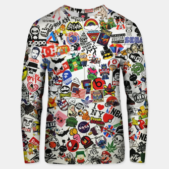 Thumbnail image of Sticker Unisex sweatshirt, Live Heroes