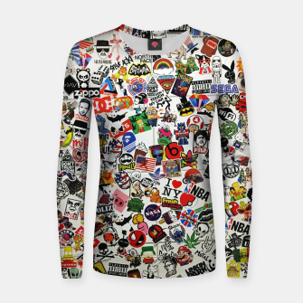 Thumbnail image of Sticker Frauen sweatshirt, Live Heroes