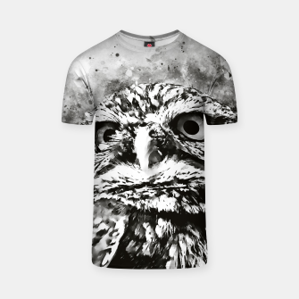 Thumbnail image of owl portrait 5 wsbw T-shirt, Live Heroes
