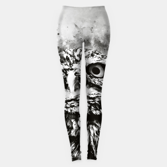 Thumbnail image of owl portrait 5 wsbw Leggings, Live Heroes