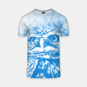 Thumbnail image of owl portrait 5 wswb T-shirt, Live Heroes