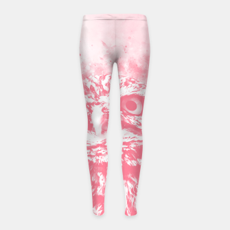 Thumbnail image of owl portrait 5 wspw Girl's leggings, Live Heroes