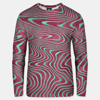 Thumbnail image of Pink and Teal twisted lines foil effect  Unisex sweater, Live Heroes