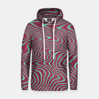 Thumbnail image of Pink and Teal twisted lines foil effect  Hoodie, Live Heroes