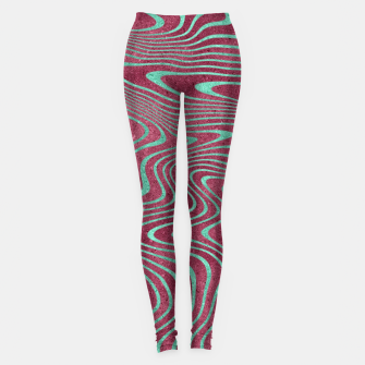 Miniatur Pink and Teal twisted lines foil effect  Leggings, Live Heroes