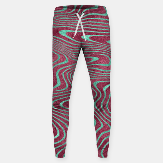 Thumbnail image of Pink and Teal twisted lines foil effect  Sweatpants, Live Heroes