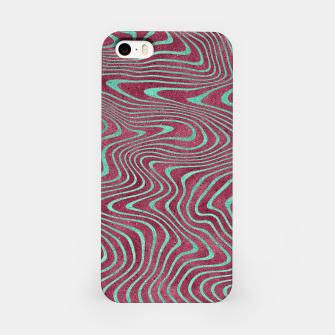 Thumbnail image of Pink and Teal twisted lines foil effect  iPhone Case, Live Heroes