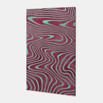 Thumbnail image of Pink and Teal twisted lines foil effect  Canvas, Live Heroes