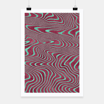Thumbnail image of Pink and Teal twisted lines foil effect  Poster, Live Heroes