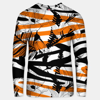Thumbnail image of Floral Tiger Print Unisex Sweater, Live Heroes