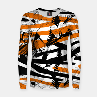 Thumbnail image of Floral Tiger Print Womens Sweater, Live Heroes