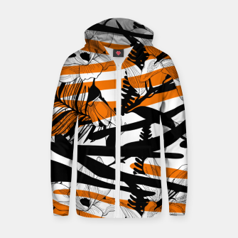 Thumbnail image of Floral Tiger Print Zip Up hoodie, Live Heroes