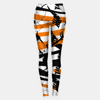 Thumbnail image of Floral Tiger Print Leggings, Live Heroes