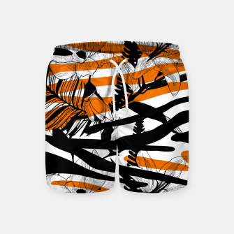 Thumbnail image of Floral Tiger Print Swim Shorts, Live Heroes