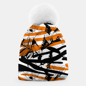 Thumbnail image of Floral Tiger Print Beanie, Live Heroes