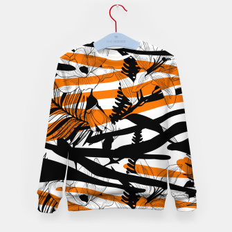 Thumbnail image of Floral Tiger Print Kid's Sweater, Live Heroes