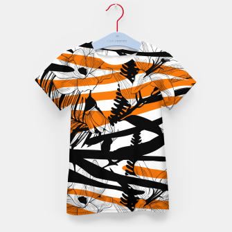 Thumbnail image of Floral Tiger Print Kid's t-shirt, Live Heroes
