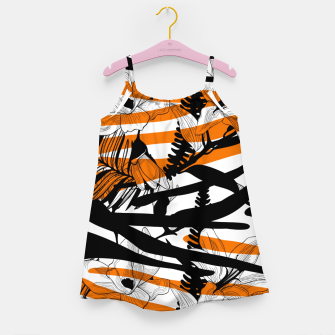 Thumbnail image of Floral Tiger Print Girl's Dress, Live Heroes