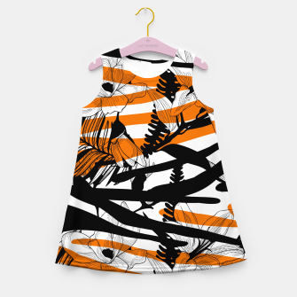 Thumbnail image of Floral Tiger Print Girl's Summer Dress, Live Heroes