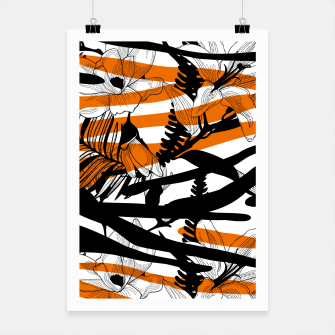 Thumbnail image of Floral Tiger Print Poster, Live Heroes