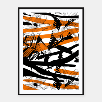 Thumbnail image of Floral Tiger Print Framed poster, Live Heroes