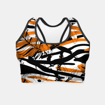 Thumbnail image of Floral Tiger Print Crop Top, Live Heroes