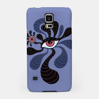 Miniatur Psychedelic Hypnotic Creepy Double Red Eye Samsung Case, Live Heroes