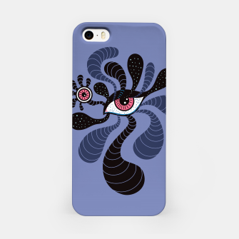 Miniatur Psychedelic Hypnotic Creepy Double Red Eye iPhone Case, Live Heroes