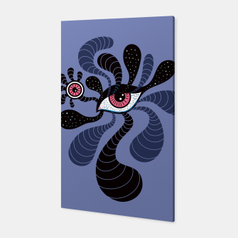 Miniatur Psychedelic Hypnotic Creepy Double Red Eye Canvas, Live Heroes