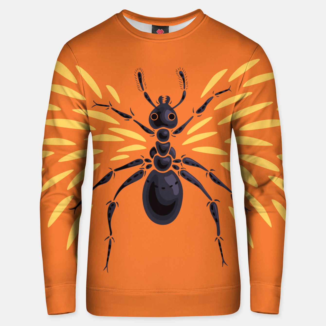 Image of Abstract Winged Ant In Orange Unisex sweater - Live Heroes