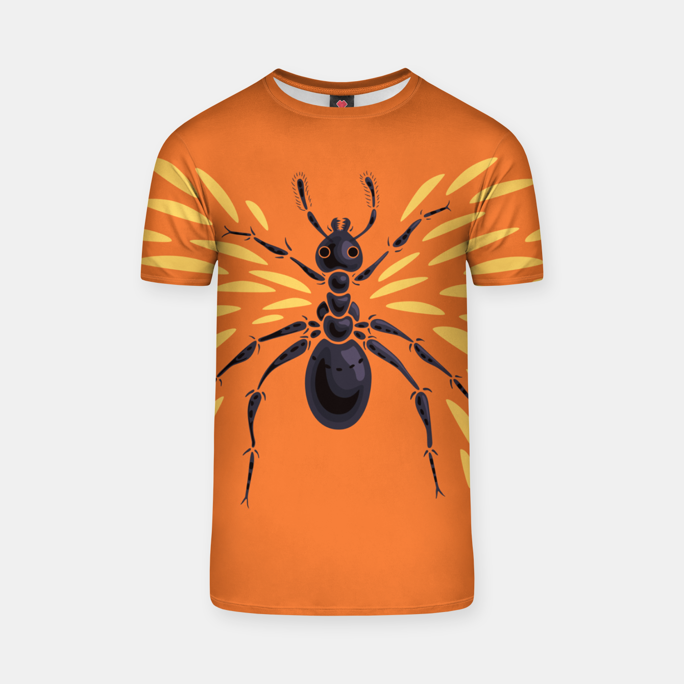 Image of Abstract Winged Ant In Orange T-shirt - Live Heroes