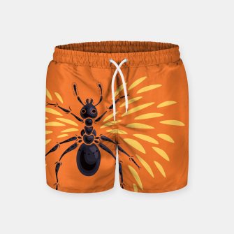 Abstract Winged Ant In Orange Swim Shorts imagen en miniatura