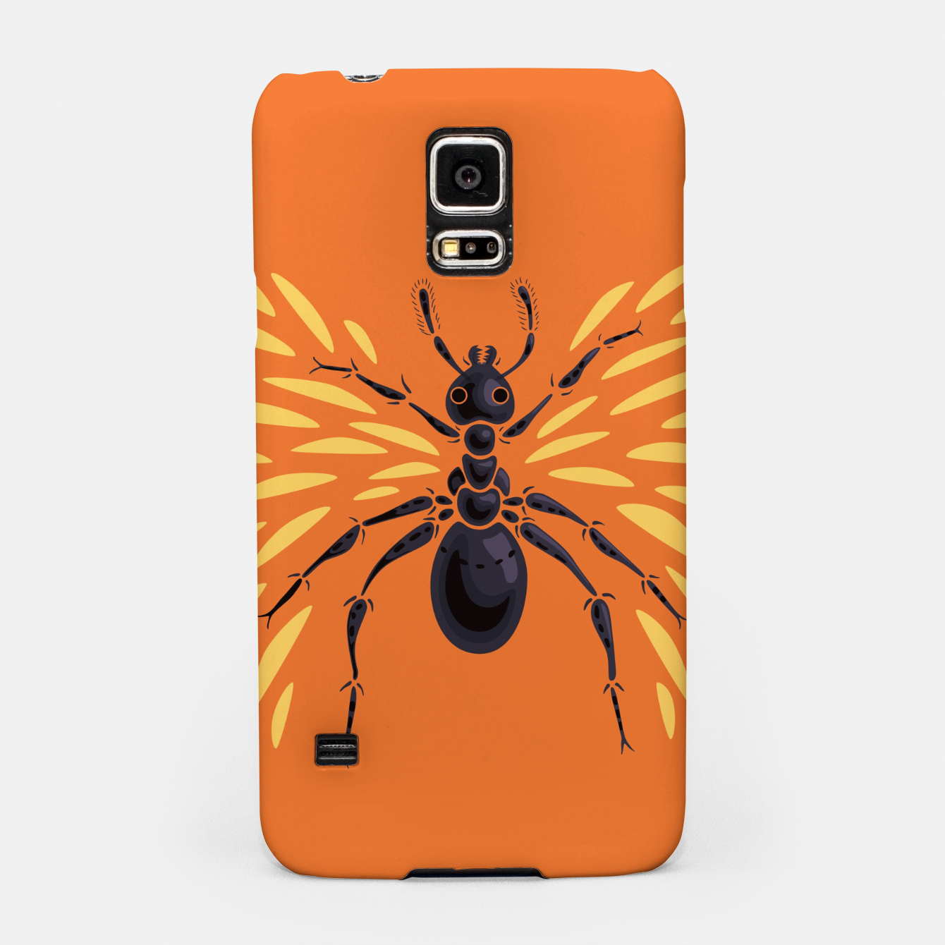 Image of Abstract Winged Ant In Orange Samsung Case - Live Heroes