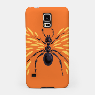 Miniatur Abstract Winged Ant In Orange Samsung Case, Live Heroes