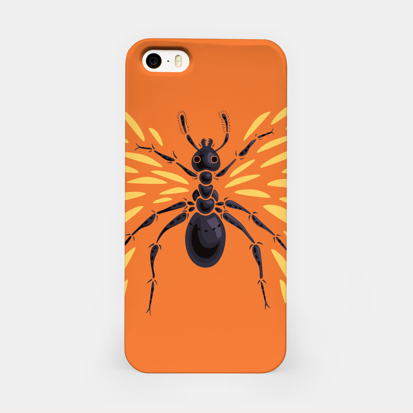 Image of Abstract Winged Ant In Orange iPhone Case - Live Heroes
