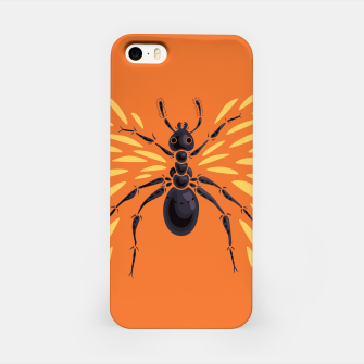 Abstract Winged Ant In Orange iPhone Case imagen en miniatura