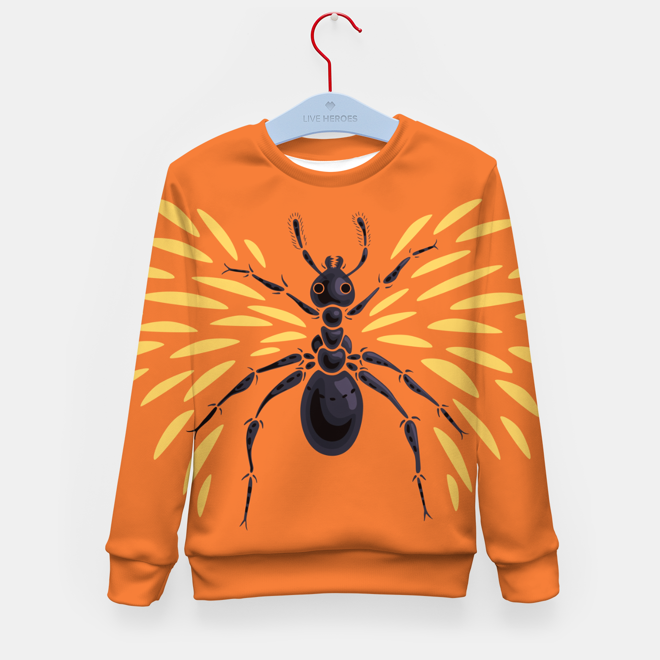Image of Abstract Winged Ant In Orange Kid's sweater - Live Heroes