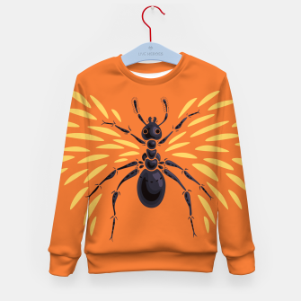 Miniatur Abstract Winged Ant In Orange Kid's sweater, Live Heroes