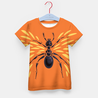 Miniatur Abstract Winged Ant In Orange Kid's t-shirt, Live Heroes