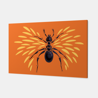 Miniatur Abstract Winged Ant In Orange Canvas, Live Heroes