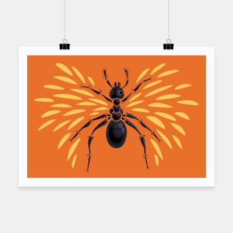 Miniatur Abstract Winged Ant In Orange Poster, Live Heroes