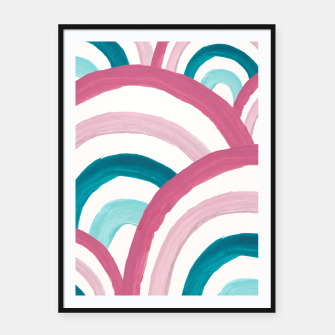 Thumbnail image of Rainbow Dream Pattern #2 (Kids Collection) #decor #art  Plakat mit rahmen, Live Heroes
