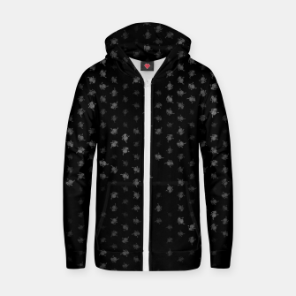 Miniatur leo zodiac sign pattern bw Zip up hoodie, Live Heroes