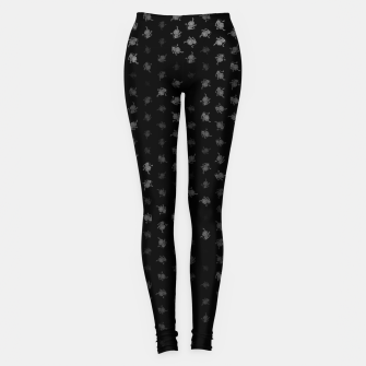 Miniatur leo zodiac sign pattern bw Leggings, Live Heroes