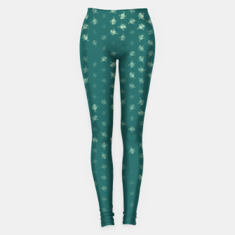 Miniatur leo zodiac sign pattern tw Leggings, Live Heroes