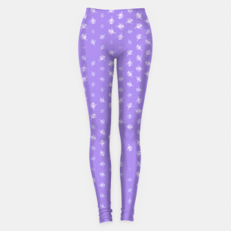 Miniatur leo zodiac sign pattern pu Leggings, Live Heroes