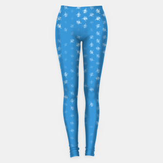 Miniatur leo zodiac sign pattern wb Leggings, Live Heroes