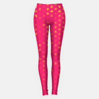 Miniatur leo zodiac sign pattern py Leggings, Live Heroes